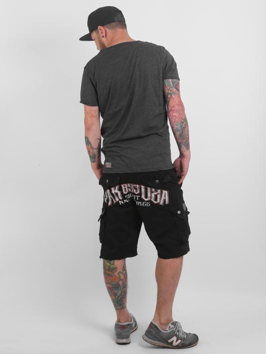 Yakuza Shorts Skull schwarz