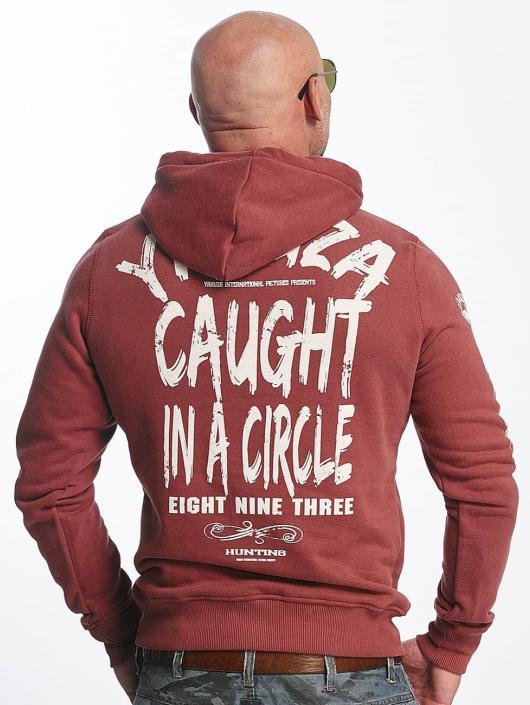 Yakuza Sweat capuche Caught In A Circle rouge