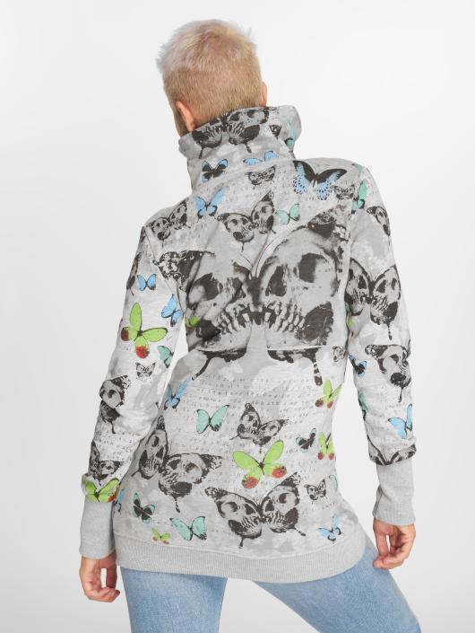 Yakuza Sweat capuche zippé Butterfly gris