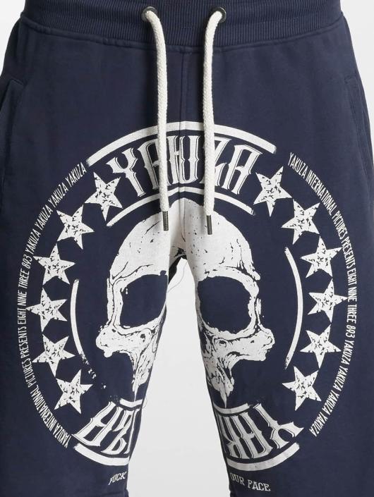 Yakuza Szorty Skull Label niebieski