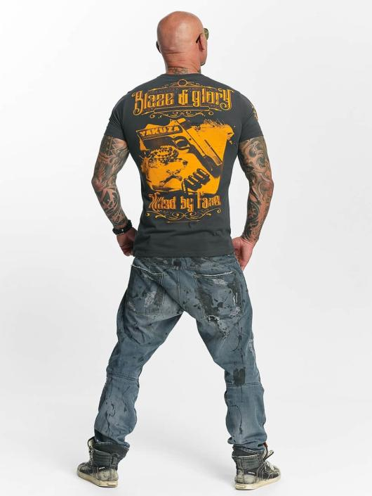Yakuza T-paidat Blaze N Glory harmaa
