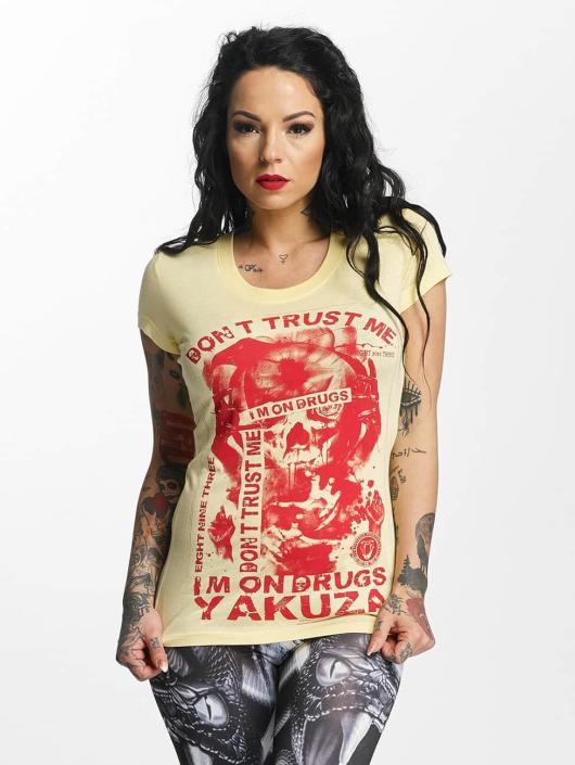 Yakuza T-paidat Don't Trust Me keltainen