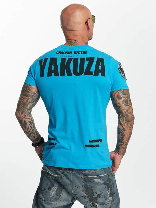 Yakuza T-paidat Chockin Victim sininen