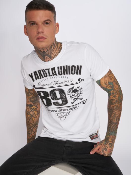 Yakuza T-paidat 893 Union valkoinen