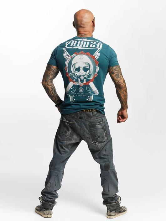 Yakuza T-paidat Helmet Skull vihreä