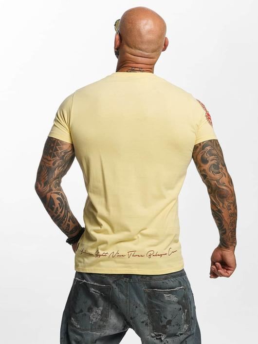 Yakuza t-shirt Daily Skull geel