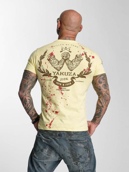 Yakuza T-Shirt Killed By Fame gelb