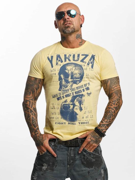 Yakuza T-shirt Love Hate giallo