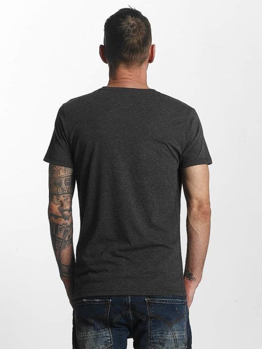 Yakuza T-Shirt Basic Line Crew Neck grau