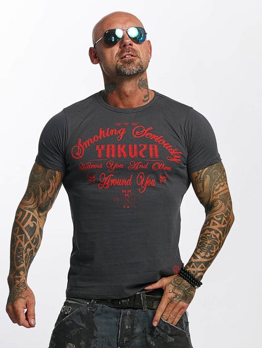 Yakuza T-Shirt Smoking Seriously gray