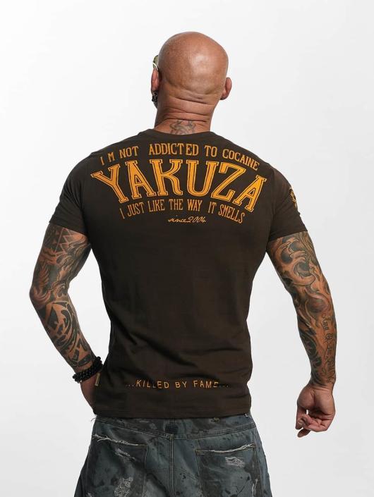 Yakuza T-shirt Addicted marrone
