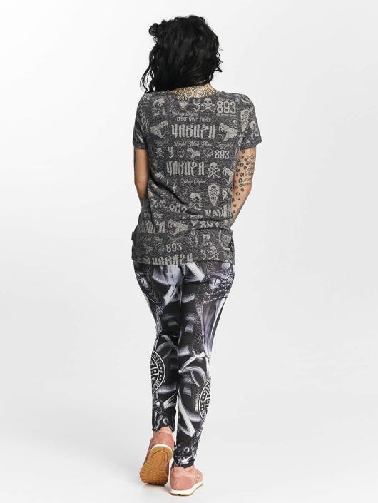 Yakuza T-shirt Allover Label Boyfriend nero