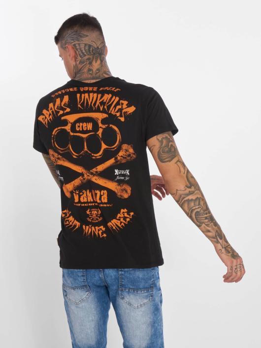 Yakuza T-Shirt Brass Knuckles Crew noir
