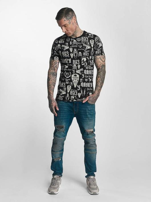 Yakuza T-Shirt Allover Label noir