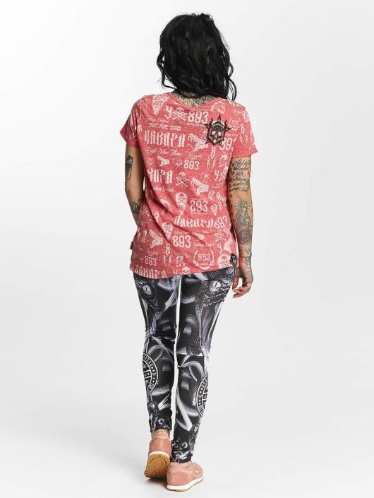 Yakuza T-shirt Allover Label Boyfriend rosso