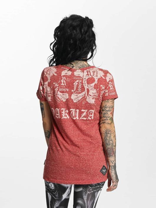 Yakuza T-Shirt Skull Script Boyfriend rouge