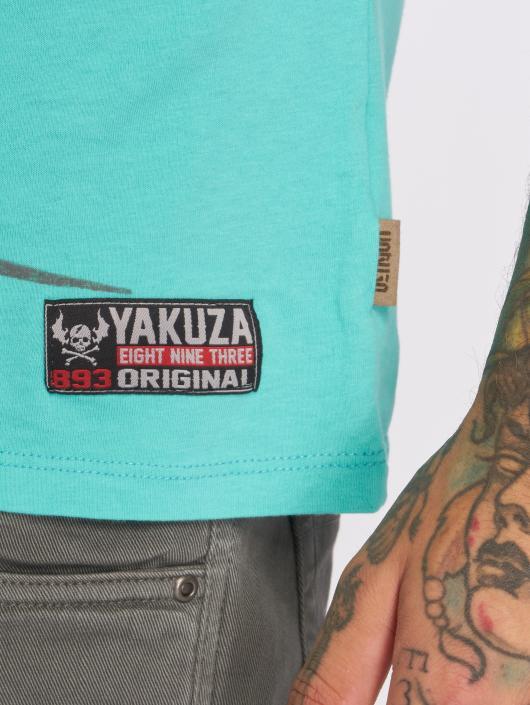 Yakuza T-shirt Face turchese