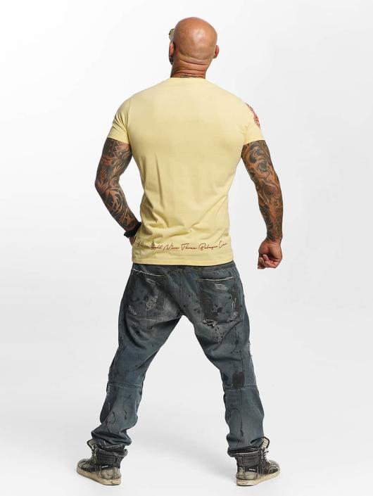 Yakuza T-shirts Daily Skull gul