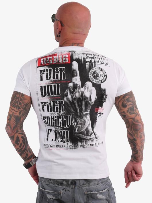 Yakuza T-Shirty Fuck You bialy