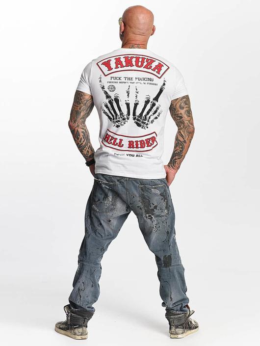 Yakuza T-Shirty Hell Rider bialy