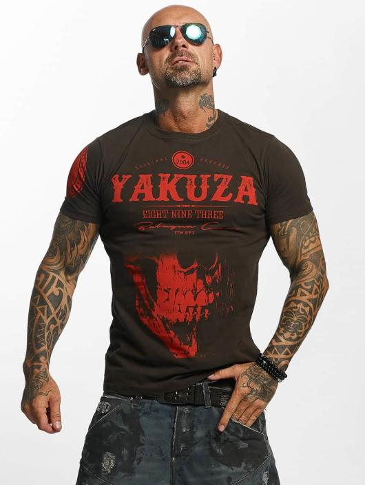 Yakuza T-Shirty Daily Skull brazowy