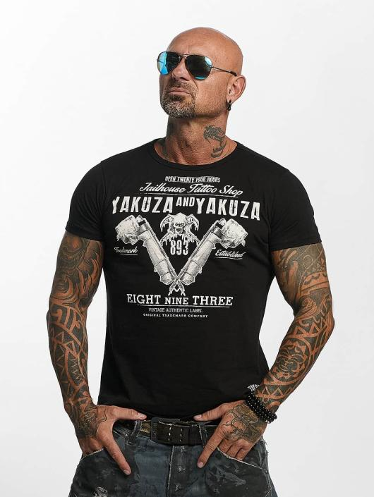Yakuza T-Shirty Tattoo Shop czarny