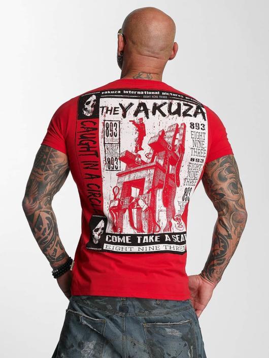 Yakuza T-Shirty Take A Seat czerwony