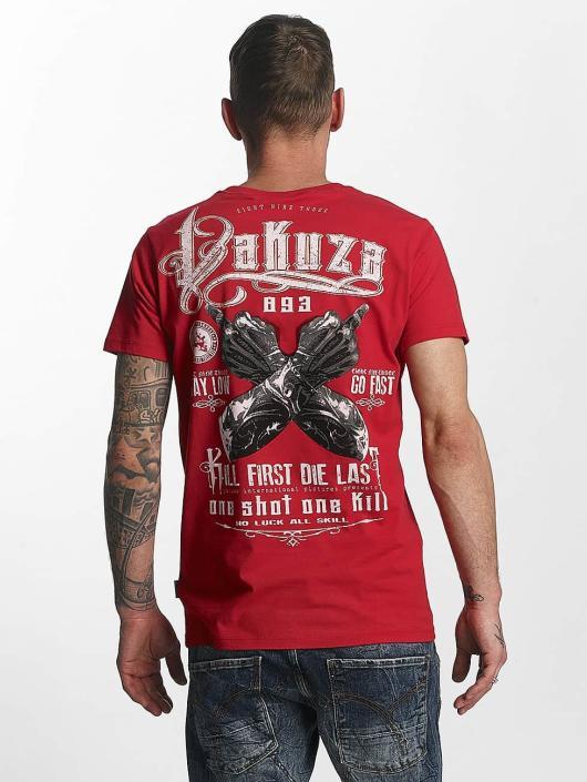 Yakuza T-Shirty One Shot czerwony