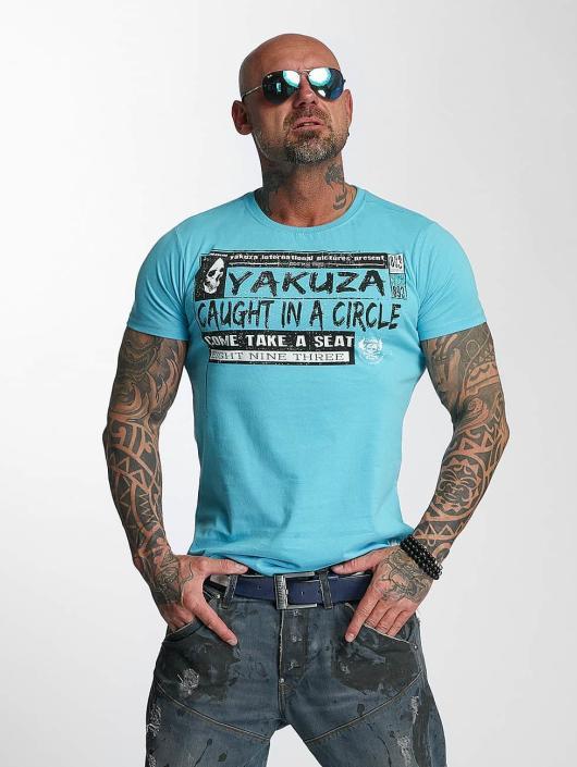 Yakuza T-Shirty Take A Seat niebieski