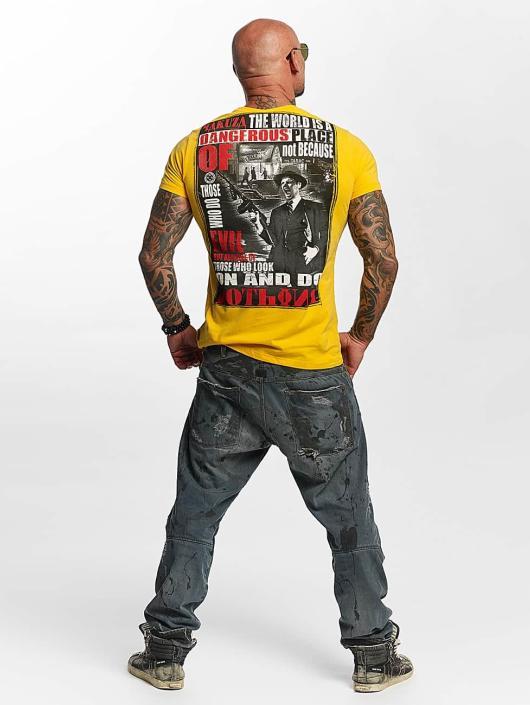 Yakuza T-Shirty Dangerous Place zólty