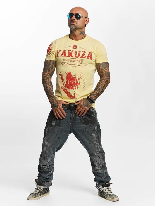 Yakuza T-Shirty Daily Skull zólty