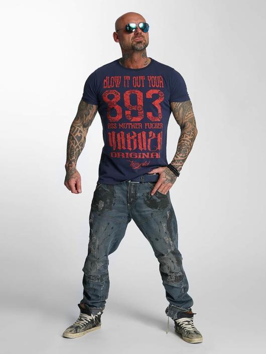 Yakuza T-skjorter Blow It Out blå