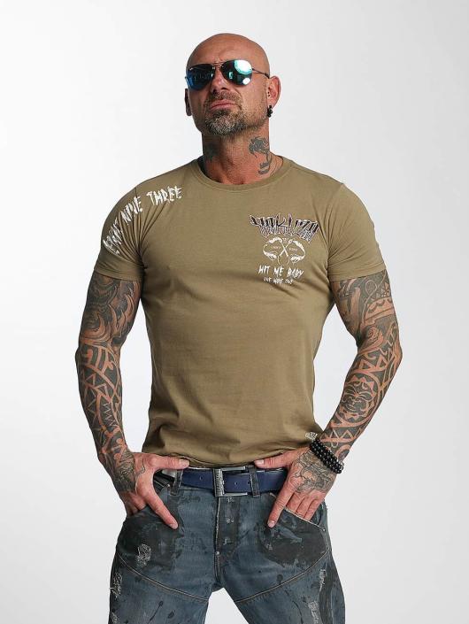 Yakuza T-skjorter Hit Me grøn