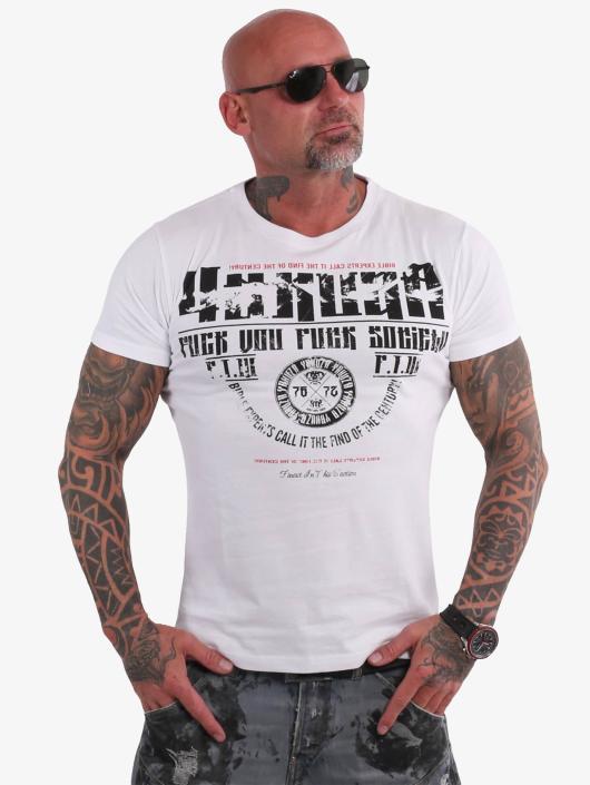 Yakuza T-skjorter Fuck You hvit
