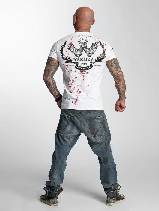 Yakuza T-skjorter Killed By Fame hvit