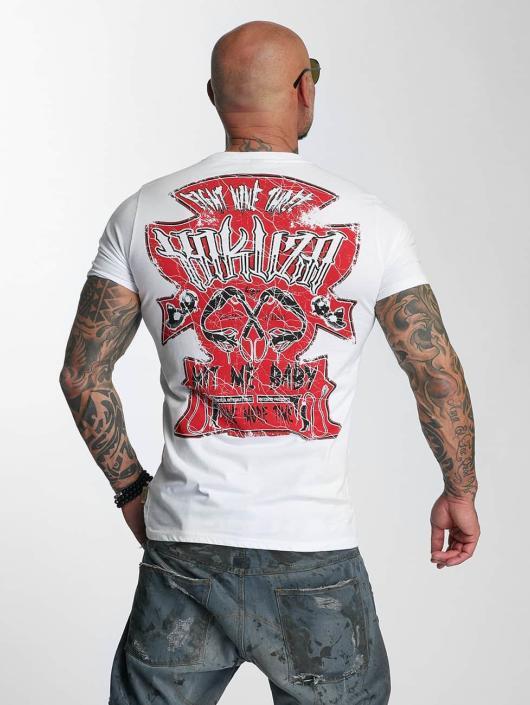Yakuza T-skjorter Hit Me hvit