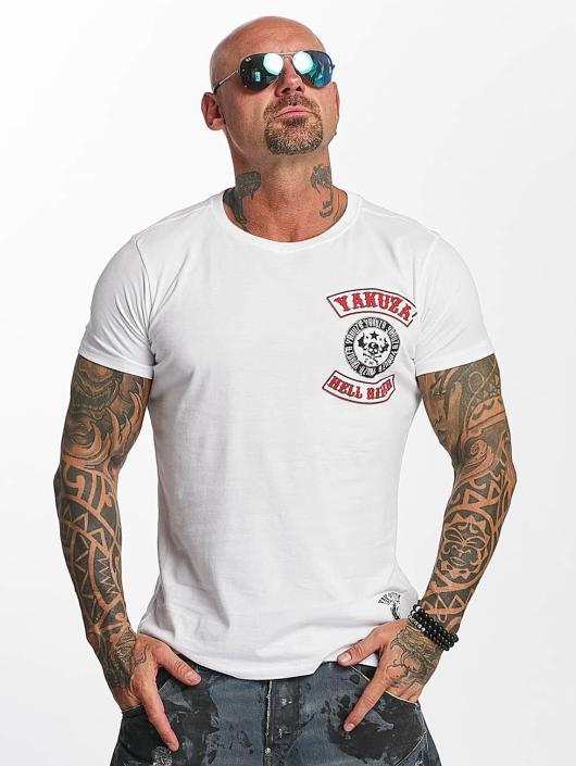 Yakuza T-skjorter Hell Rider hvit