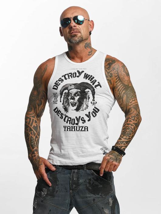 Yakuza Tank Tops Destroy hvit