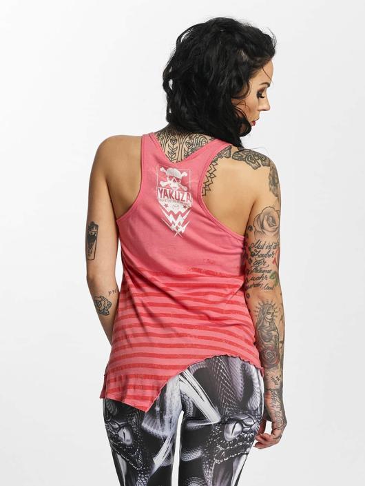 Yakuza Tank Tops Stripes Urban rosa chiaro