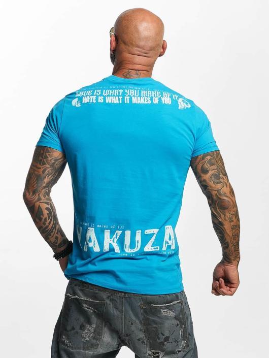 Yakuza Tričká Love Hate modrá
