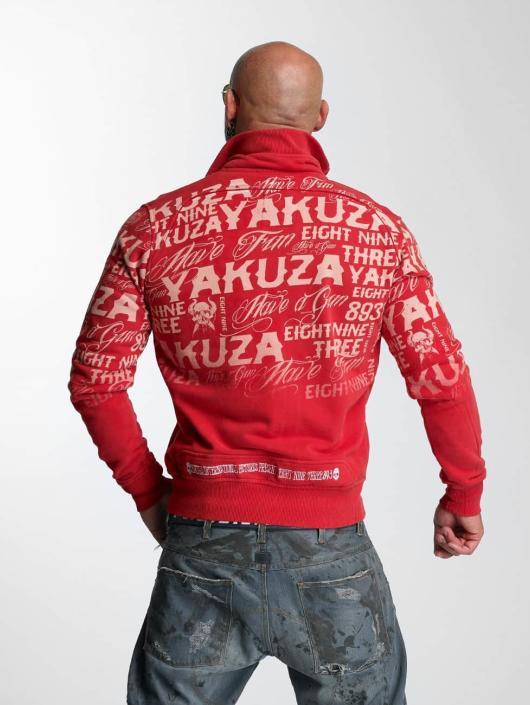 Yakuza Übergangsjacke Allover Label rot