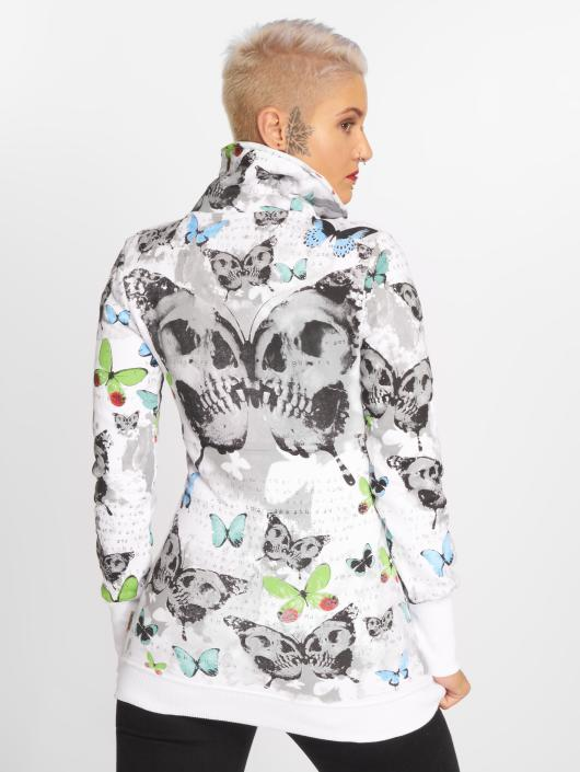 Yakuza Zip Hoodie Butterfly bialy