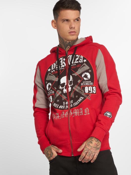 Yakuza Zip Hoodie Hangman red