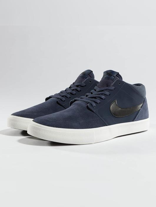 Nike Baskets SB Solarsoft Portmore ll Mid Skateboarding bleu