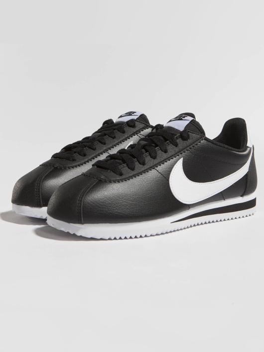 ... Nike Baskets Cortez Leather noir ...