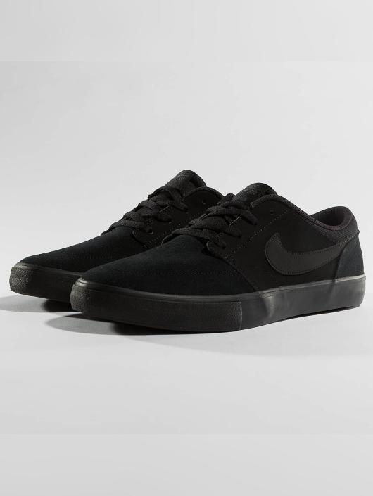 correspondant en couleur prix d'usine meilleure qualité pour Nike SB Solarsoft Portmore ll Skateboarding Sneakers Black/Black/Anthracite