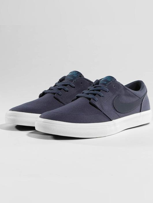 Nike SB Sneakers SB  Solarsoft Portmore II Canvas Skateboarding blue