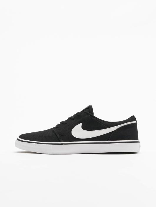 Nike SB Sneakers SB  Solarsoft Portmore II Canvas Skateboarding czarny