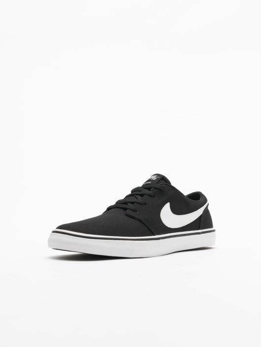 Nike SB Tøysko SB  Solarsoft Portmore II Canvas Skateboarding svart