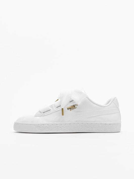 Puma Basket Heart Patent Sneakers Puma White